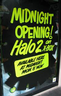 Halo 2 midnight opening