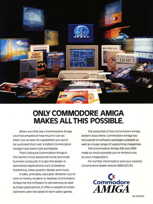 Only Commodore Amiga makes all this possible