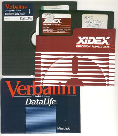 5.25 inch diskettes