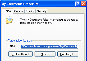 My Documents properties
