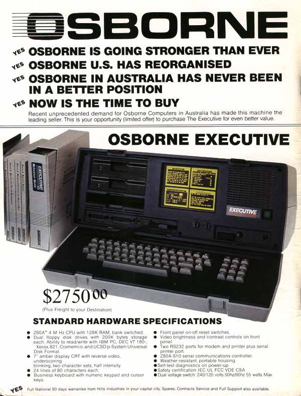 Osborne Executive luggable computer