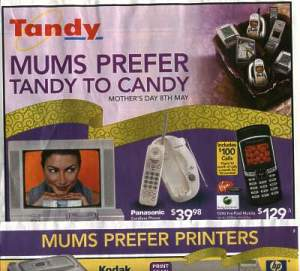 Tandy catalogue: Mums Tandy to Candy