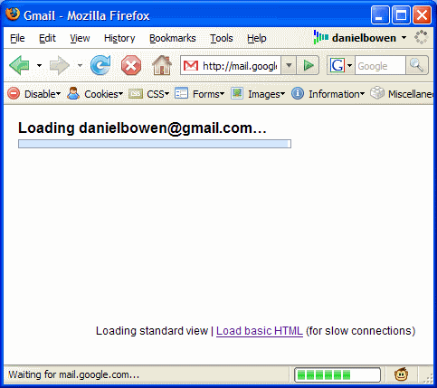 Slow loading Gmail